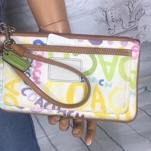 Rare Coach stamped large Wristlet